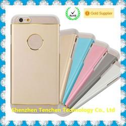 Alibaba China Metal TPU Hybrid back cover case for iphone 6, for iphone 6 back cover case