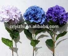Decorative single hydrangea flowers,artificial bush hydrangeaYZT1-1618
