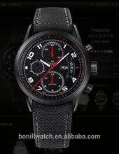 sport men leather strap custom mechanical watch