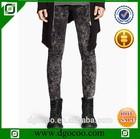 Ocoo Top design fashion skinny slim fit ripped men snow wash jeans