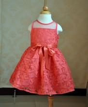 2015 Popular kids beautiful model dresses/fashion design small baby girls dresses