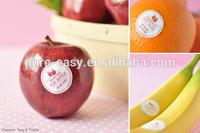 custom glossy self adhesive label for fruit,AppleS,oranges,bananas