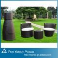 Balcón baratos juego de muebles, balcón de mimbre juego de muebles, ratán muebles de terraza