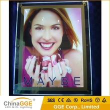 Window Display LED Acrylic Backlit Poster Frame