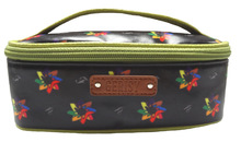 Fine High Heel Kaleidoscopic Print Ladies Women Coated Canvas Cosmetic bag