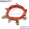 Joyería de moda de méxico encanto pulsera promoción/joyería de moda hecha en china al por mayor pulsera del encanto de la promoción