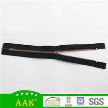 cheap open end, autolock metal zipper y teeths rose gold zipper