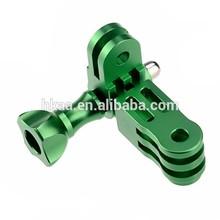 china special custom Green CNC Aluminum Mount 3 way Pivot Arm and Knob Screw Nut for mini video camera