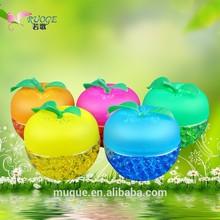 2014 fashion deodorant household 88g car perfume air freshener/artistic apple bottle/factory wholesale