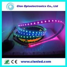 led ws2812 strip;48leds/m; 24ic/m; DC5V digital input;15mm White PCB; Waterproof silicon tube IP67; 2leds/cut; CE & ROHS