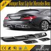 Real Carbon Fiber CLA Class Rear Bumper Lip for Mercedes Benz C117 CLA250 CLA45 2014