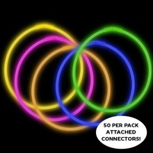 "22"" Glow Necklaces (50 per Pack)"
