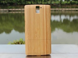 Real Natural Bamboo Wood Wooden Hard Case Back Cover For One Plus One