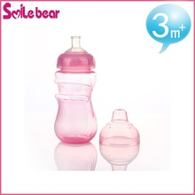 mother care pink color empty plastic water bottles