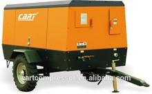 Mines using portable configuration diesel driven 8 bar / 7.0m3 screw air compressor