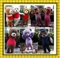 Venda direta da fábrica de pelúcia traje ursinho 100% tiro em espécie adulto teddy bear / traje da mascote para venda