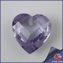 Heart shape double facted cut CZ Stone Women bracelets and bangles