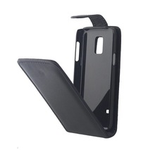 Black PU flip leather case for Samsung S5 Mini,for samsung galaxy s5 mini