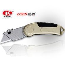 2pcs Trapezoid blade Zinc alloy Folding Pocket Utility Knife