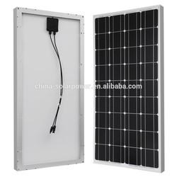 140W 150W 160 TUV IEC CSA UL monocrystalline solar panel