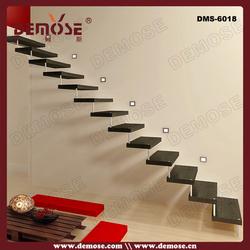 cheap hidden steel stringer straight stair