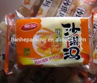 Sachima plastic bag/Hot sale courier food plastic bag packaging