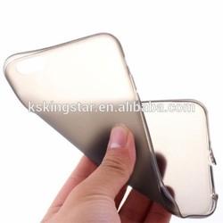 transparent soft TPU back cover case for iphone 6 plus,for iphone 6 TPU cover case with dust plug
