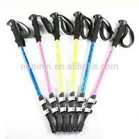 Quick lock EVA handle 3 section aluminum retractable colorful hiking stick