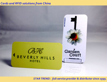 Preprinted plastic magnetic stripe card with smaller size - Hotel Key Card ISO7811 CR50