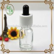 10ml clear dropper bottle glass Tamper & Child proof cap