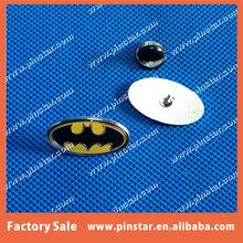 Top Quality Batman Super Hero Yellow w/Black Batman Pin Badge