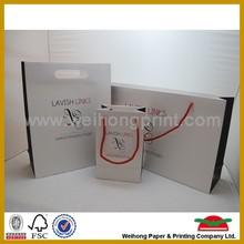 Fancy printed paper bag, promotional bag factory provides
