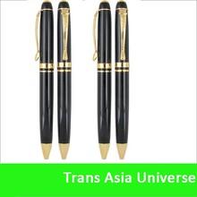 new design decorative aluminum barrel metal ballpoint pen