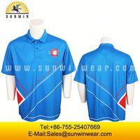 Wholesale 2013 New Design Custom Sublimated polo t-shirt