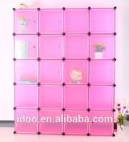 DIY cubes magic pp plastic wardrobes folding kids plastic clothes wardrobe plastic cabinet for sale philippines (FH-AL0069-20)