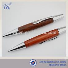 Metal Twist Short Carved Wood pen