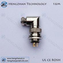 16mm Air plug female socket male plug GX16 4pin 4p connector