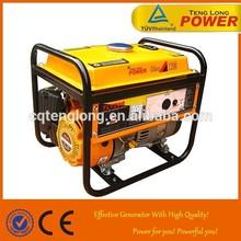 Safety running 1.2 kw mini cheap electric petrol generator