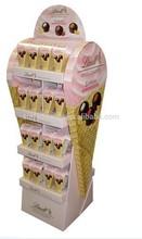 Promotional ECO Cardboard Floor Display Stand Bottle Model For Retail Shops For Snaks