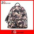 las mujeres nuevas bolsas de hombro de la rueda de corea mochila de moda adolescente en blanco y negro