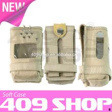 Indoor walkie talkie radio leather carry case for TK-2107 TK2107