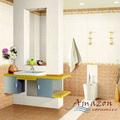 foshan barato 3d pisos telha cerâmica do banheiro