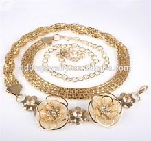 Fashion young lady chain belt, metal belt jeans chain, metal chain belt