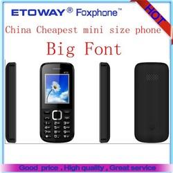 "1.77"" mini mobile phone no camera,big font mobile phone"