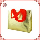 Top quality hotsell quilted fabric non woven shopping bags