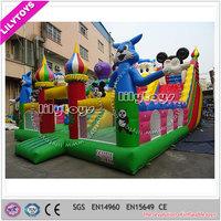 outdoor mobile kids inflatable trampoline amusement park