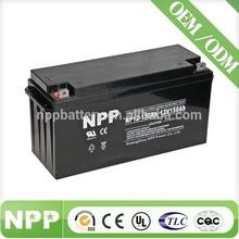 12V 150AH solar pond pumps backup portable back up engine battery