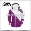 Blanco y morado para mujer chaqueta de deporte/wholesala abrigo