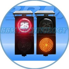 200mm speed and ball Solar Traffic warning Sign