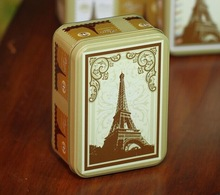 Eiffel Tower tin box/lunch tin box tin lunch box/kids lunch box